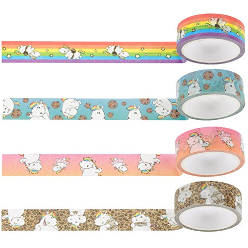 Pummeleinhorn Set Washi Tapes, 4 tlg.