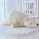 Balai Liegender Eisbär Kuscheltier Puppe, Kinder Stofftier Kissen Spielzeug,Bürostuhl Kissen Kissen