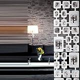 """RAUMTEILER BILDERVORHANG """"COLLAGE"""" Fotovorhang für 32 Bilder 165 cm von Xtradefactory weiß"""