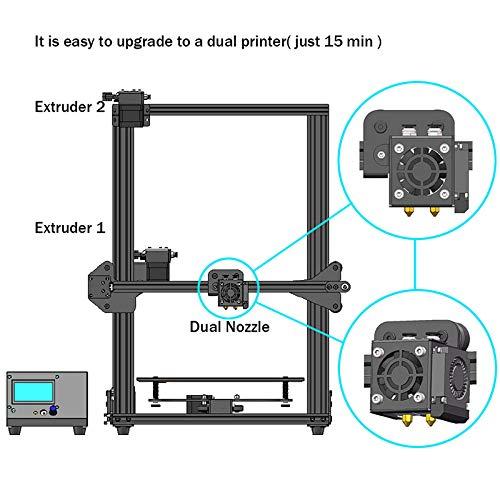 HE3D vormontierter SKY 3D Drucker mit Titantextruder AC Wärme Bett voll Aluminium große Baugröße 300 * 300 * 400mm Doppelköpfe als Geschenk - 2