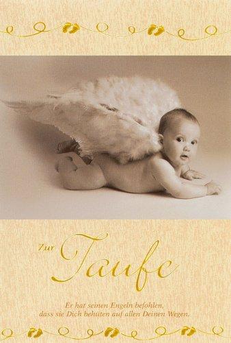 Taufkarte Glückwunschkarte zur Taufe mit Psalm 91,11 11x17