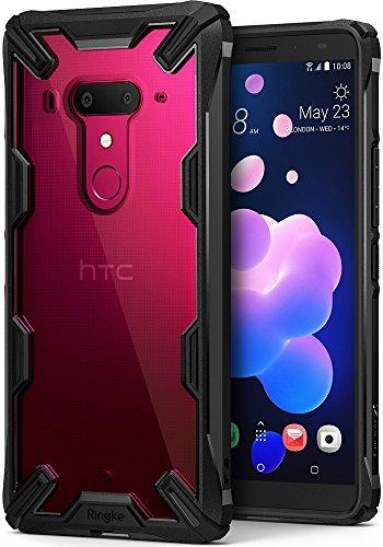 Ringke Coque HTC U12 Plus, [Fusion-X] Transparent Ergonomique [Protection Contre Une Chute de Niveau Militaire] PC Retour Bumper TPU la Technologie d'Absorption de Choc Étui pour HTC U 12 Plus - Noir