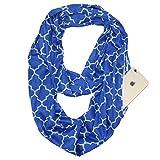 YYXXX Schal,Schal-Taschen-Schal Unsichtbarer Reißverschluss Schlanker minimalistischer Reise-tragbarer warmer Schal, Blau, 180 * 50Cm