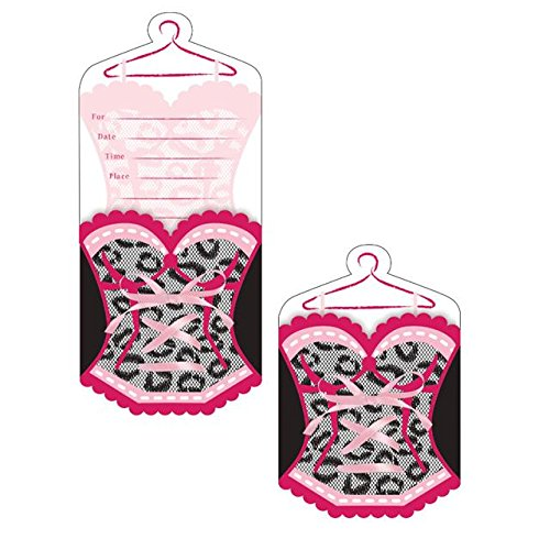Creative Party Bridal Bash Korsett Form Party Einladungen (Print Korsett Leopard)