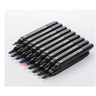 40/60/80 Colors Art Marker Set,Twin Tip Sketch Marker Pens Set with Pencil Bag for Artist Artwork (80-Color)