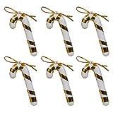 Chen Rui TM Weihnachtsbaum Dekoration Anhänger Zuckerstange (Golden, 6)