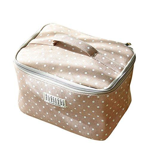 Setsail Polka Dot Print Make-up Aufbewahrungstasche Mittagessen Tasche, Picknick Tasche, Camping, Reisetasche Mittagessen (Rosa)