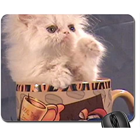 kitty in a teacup Mouse Pad, Mousepad (Cats Mouse Pad) - Kitty Teacup