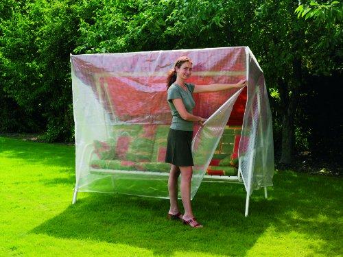 Unbekannt Abdeckhaube für Hollywoodschaukel 3-Sitzer transparent, 215x123x160/90 cm