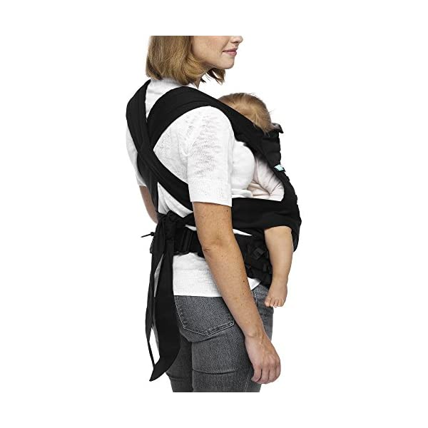 MOBY Buckle Tie Carrier for Baby to Toddler up to 45lbs, One Size Fits All, Unisex,Stripes Moby One-size-fits-all Grows with baby, from infant to toddler Offers front, hip and back carrying positions 5