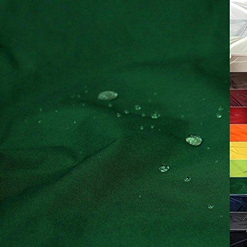 TOLKO Sonnenschutz Nylon Planen-Stoff Meterware - 180 cm Breit, Wasserdicht, Reißfest und Blickdicht als Universal Outdoorstoff zum Nähen (Dunkelgrün)