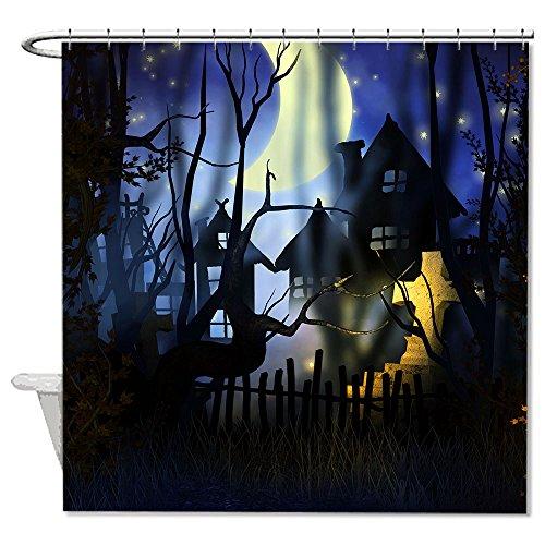 warrantyll Happy Halloween Moonlight Polyester Duschvorhang wasserdicht 182,9x 182,9cm (Halloween Duschvorhang)