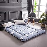 Love House Faltbarer Boden von Tatami Schlafmatte, dick, weich, Polyester, Matratze, Einzelbett, Doppelbett, japanische Bettdecke, Schlafmatratze, Student 150x200cm(59x79inch) Blume