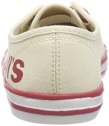 Levis Footwear Gong, Baskets Basses Mixte Enfant Beige (BEIGE)