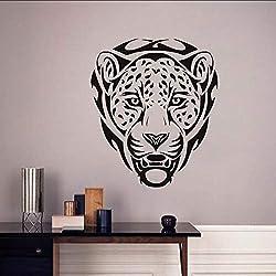 Chellonm Pvc Extraíble Calcomanías Pegatinas Animales Africanos Leopardos Tatuajes De Pared Decoración De La Pared Jungle Cat Art Mural Decoración Del Hogar Adhesivo 58 * 68 Cm
