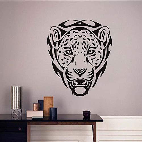 Chellonm Pvc Extraíble Calcomanías Pegatinas Animales Africanos Leopardos Tatuajes De Pared Decoración De La Pared Jungle Cat Art Mural Decoración Del Hogar Adhesivo 58 * 68 Cm