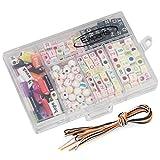 Ewparts 6 in 1 Kinder DIY Armband Perlen, Brief Perlen Bunte Perlen Acryl Alphabet Perlen für Schmuck Machen DIY Armbänder Halsketten, Farbe verbläßt nicht baby spielzeug