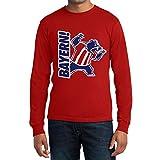 Bayern Fan Shirt mit Bär Maskottchen - Für Fußball Fans Langarm T-Shirt Medium Rot