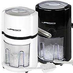 Idea Regalo - Macchina tritaghiaccio manuale, macchina per cubetti di ghiaccio, in 2diversi colori bianco