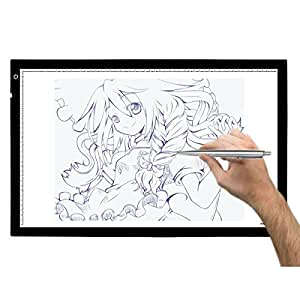 Huion a2 table lumineuse avec led luminosit r glable for Table lumineuse a3