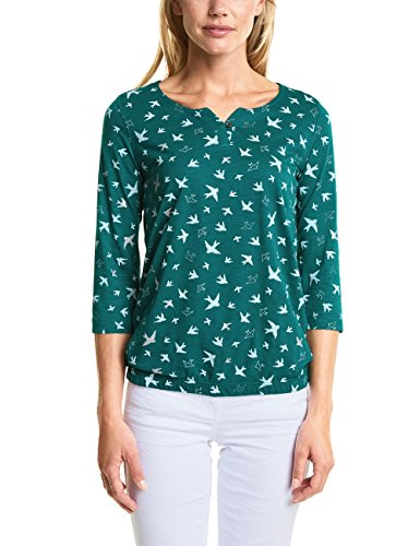 Cecil Damen T-Shirt 312446 Minna, Grün (Botanical Green 31487), Small