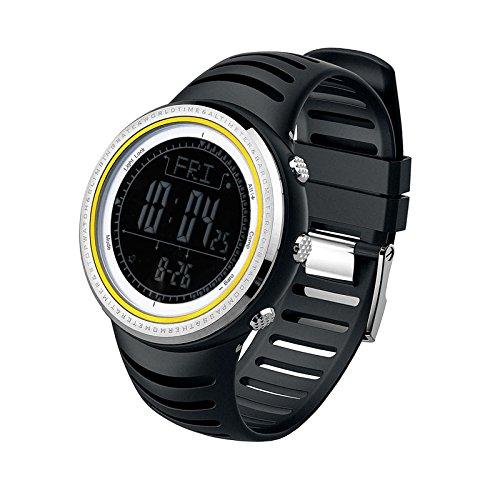 Sunroad® Sport Armbanduhr fr802b 5ATM Digital El Hintergrundbeleuchtung W/Höhenmesser Barometer Kompass Weltzeit Stoppuhr