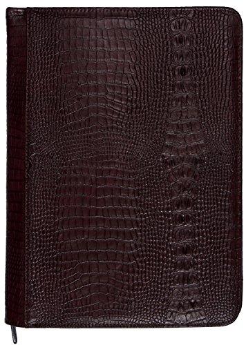 2400-53Kalpa Alpstein Scrittura Custodia Artificiale In Pelle Sintetica Croco Burgundy
