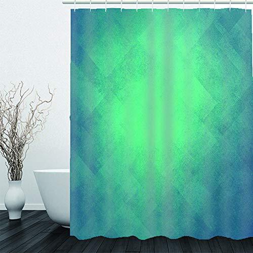HBZZCL 3D Duschvorhänge Grünes Licht Wasserdicht Stoff Fabrik Wohnaccessoires Kunststoffhakens-180(W) X180(H) cm (Licht Grün Duschvorhang)