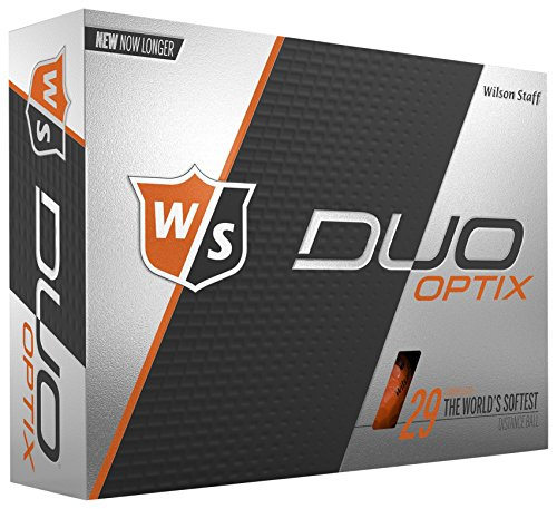 WILSON Staff Duo Soft, Herren, Duo Soft Optix - Orange, Orange, Large (Wilson Duo Golfbälle)