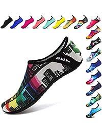 99b858116c5 Funnie Zapatos de Agua Mujeres Hombres Niños de Aqua Zapatillas Secado  Rápido Ligeros Zapatos de Descalzo