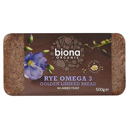 Biona Organic Segale, Omega 3, Semi Di Lino Di Grano Dorato Pane Senza (500g)