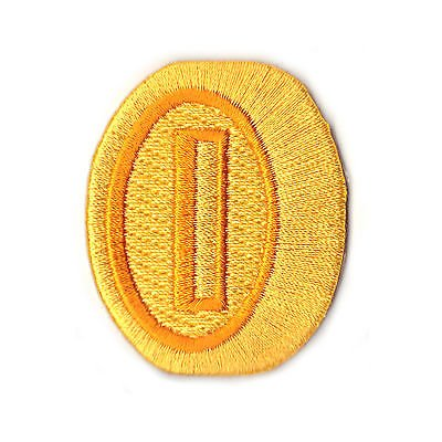 Gold Medaille Patch (5,1cm) Super Mario Brothers bestickt Eisen/Nähen auf Badge Power Up Aufnäher Souvenir DIY Kostüm World Kart SNES