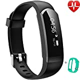 Willful Activity Tracker IP67, Orologio Fitness Cardiofrequenzimetro da polso Braccialetto Fitness Smart Watch Uomo Donna Impermeabile per Android IOS Pedometro Running Cronometro Nero Verde