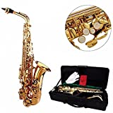 HITSAN INCORPORATION Lade Alto EB Golden Saxophone Sax Paint Gold with Case