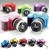 ewfsef Cute Mini Digital Single Lens Reflex réflex digital cámara estilo linterna LED de luz de flash del obturador Sonido Llavero