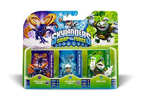 Skylanders Swap Force - Triple Pack B (Zoo Lou, Spyro, Chill)