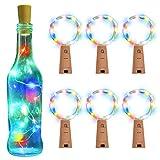 BizoeRade Flaschenlichter,BizoeRade 15 LED 30 Zoll RGB Mehrfarbig Kupferdraht-sternenklares Licht für zeitlich dekoratives Weihnachtsfeiertags-Hochzeitsfest