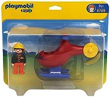 Playmobil 6789 - Elicottero dei Pompieri, Multicolore