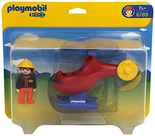 Playmobil 6789 1.2.3 Fire Rescue Helicopter