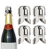 Brand New 4x nuovo in acciaio INOX bottiglia di champagne tappo sigillante vino