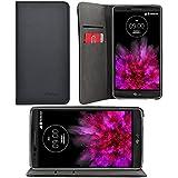iProtect LG G Flex 2 Kunstledertasche im Bookstyle schwarz Schutzhülle mit integriertem Magnetverschluss