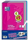 Oxford 400072719Notizblöcke espiralados, verschiedene Farben, 5Stück