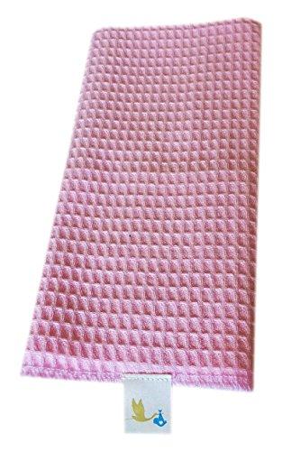 babymee Baumwolle Waffel Baby Musselin Tuch pink