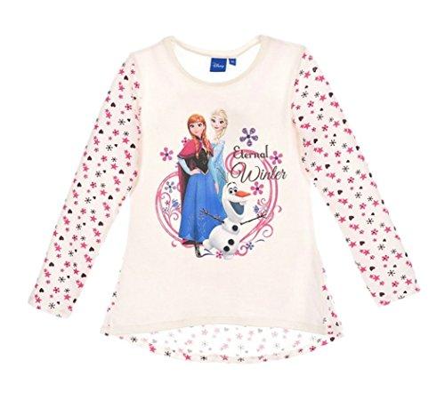 Frozen Elsa Kleider (Frozen Langarmshirt Die Eiskönigin 2016 Kollektion 92 98 104 110 116 122 128 Mädchen Herbst Winter Lang Elsa, Anna und Olaf Tunika (110 - 116,)
