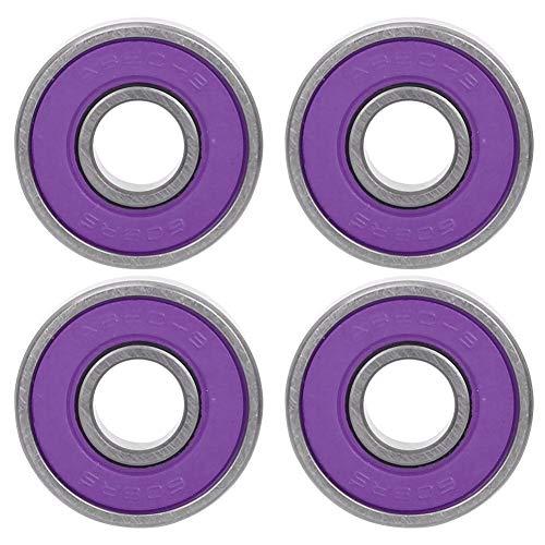 Alomejor Rodamiento de Rodillos de Patines 8 Piezas de Longboard 608 Rodamientos de Bolas para patinetas Patines en línea (Purple 7)