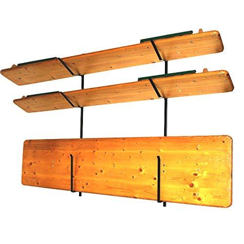 Wandhalterung für Biertischgarnitur-Set Biertischgarnitur, 143 cm Bierzeltgarnituren Tisch Bank...
