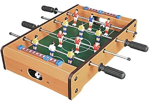 Tabletop Football Foosball Table Wooden Soccer Boys Game Play Arcade Style Wood