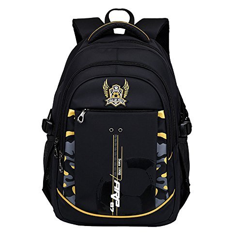 MATMO Ergonomic School Bags Students Backpack for Elementary 3-6 Boys and Girls (Yellow)