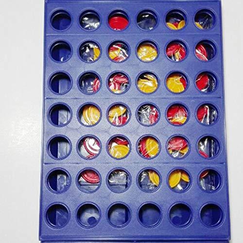 MXECO Ajedrez Tridimensional de Cuatro Juegos Educación temprana Interacción Padre- Hijo 1 Set Connect 4 In A Line Board Juego clásico