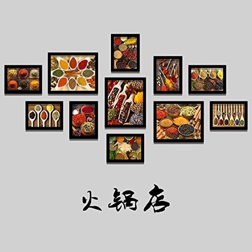 Bilderrahmen Set Dicke Holzrahmen, schwarz Dekorative Wandmalerei mit Box Restaurant Szechuan Restaurant Hotel portfolio Foto an der Wand